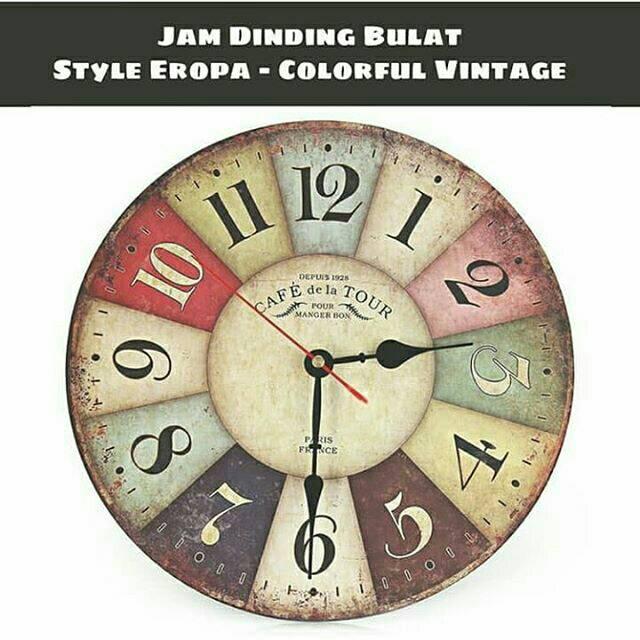 Jam Dinding DIY Giant Wall Clock 25cm Diameter   Jam Dinding ... 072395c505