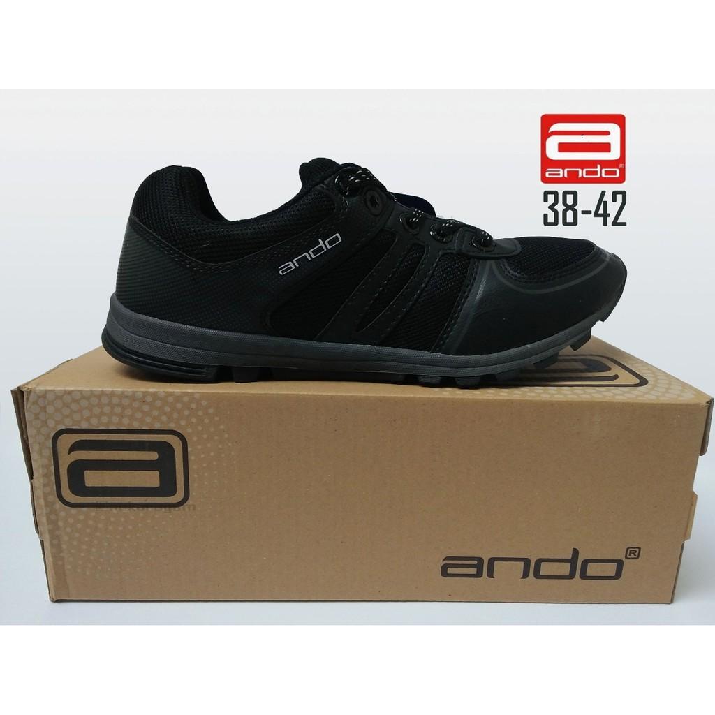Sepatu sekolah ando hitam dan hitam-putih size 36-41  afe78c028f