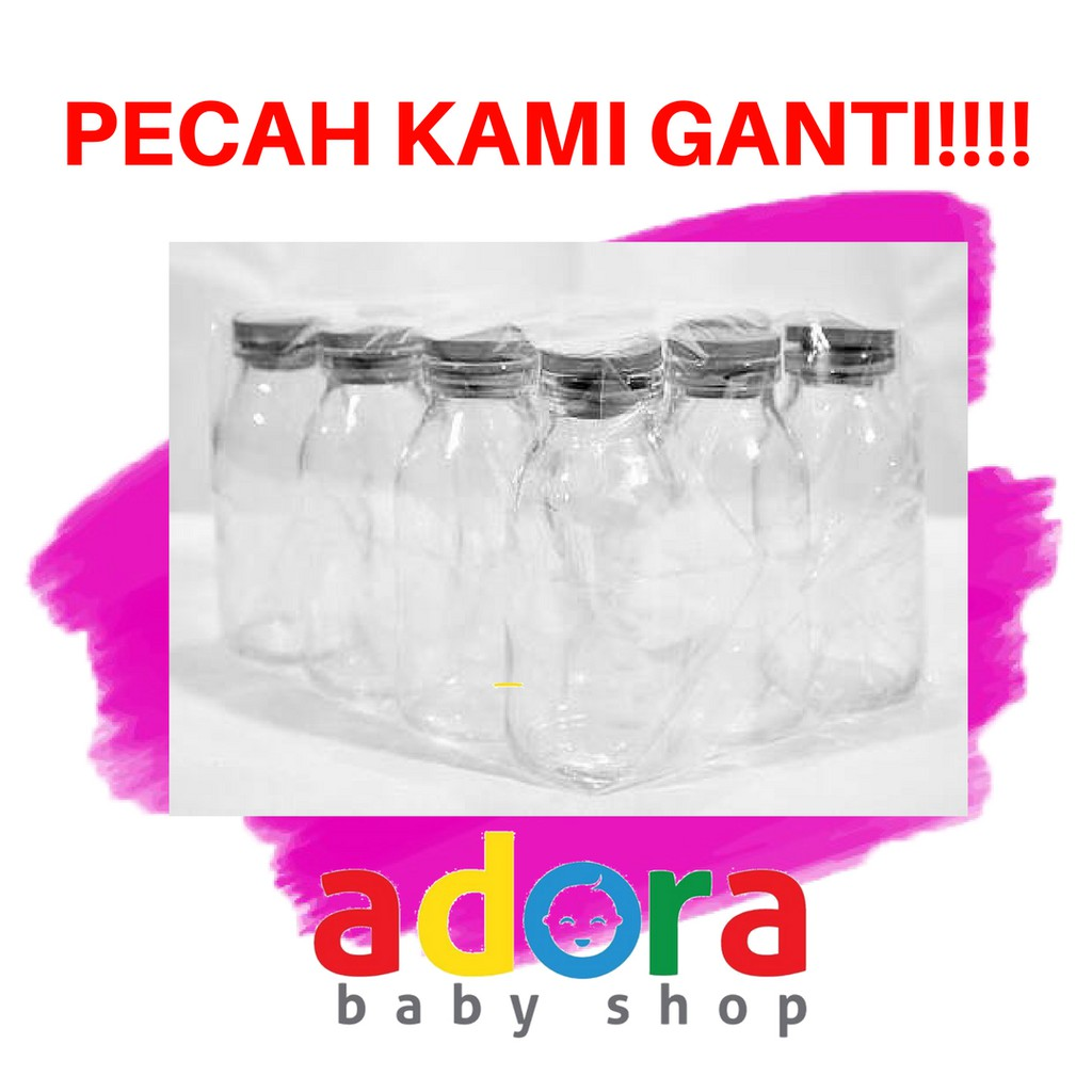 Botol Kaca Uc 1000 Asi Asip 120ml Beling Tutup Ulir Wadah Set Pop Up Dan Shopee Indonesia