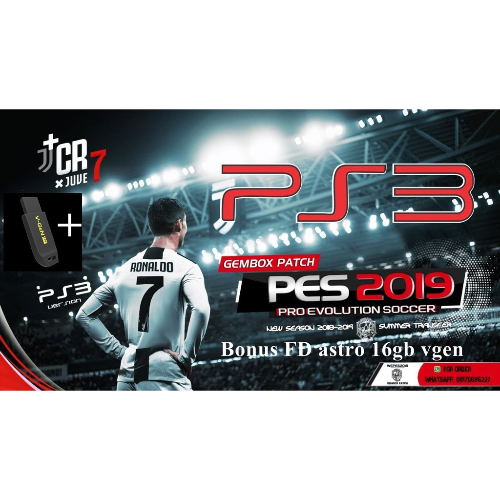 PS3 PES 2018 PATCH 2019 GAMEBOX FULL TRANSFER FOR PS3 CFW / OFW vgen astro  16gb
