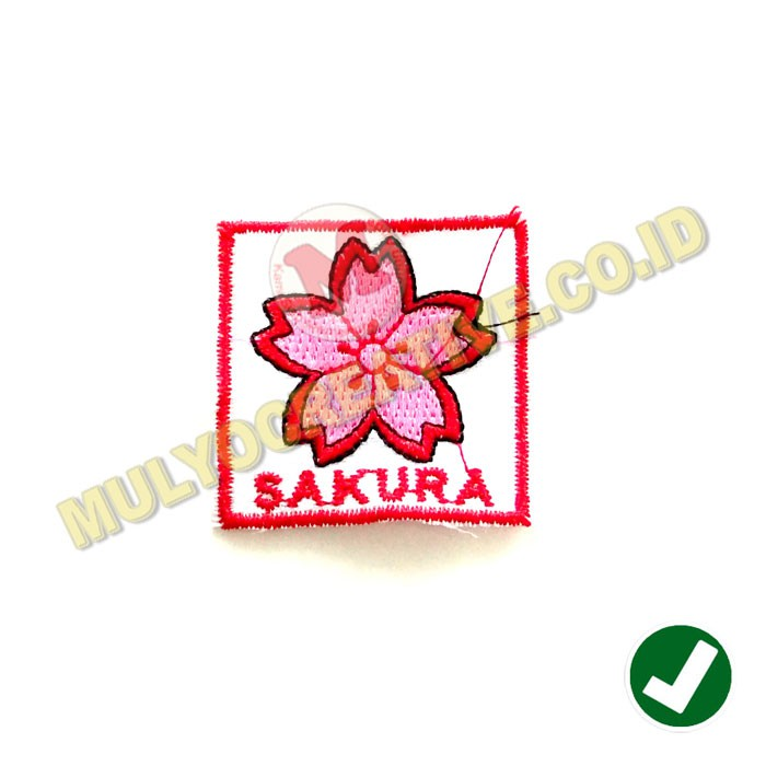 Bordir Tanda Regu Bunga Sakura Bordir Lambang Regu Pramuka 10pcs Shopee Indonesia