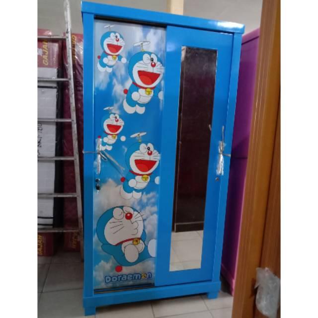 Lemari Pakaian 2 Pintu Sliding Karakter Doraemon Shopee Indonesia