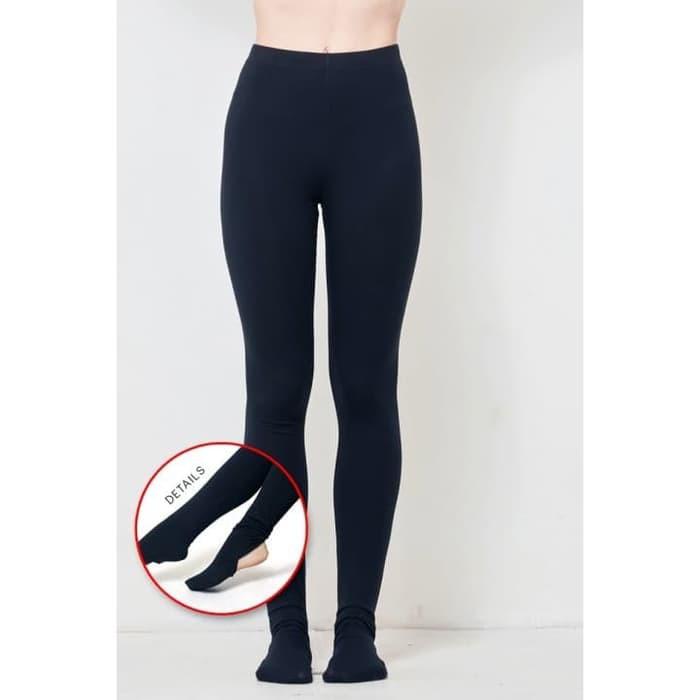 Legging Hitam Polos Legging Wudhu Celana Legging Panjang Hitam Shopee Indonesia