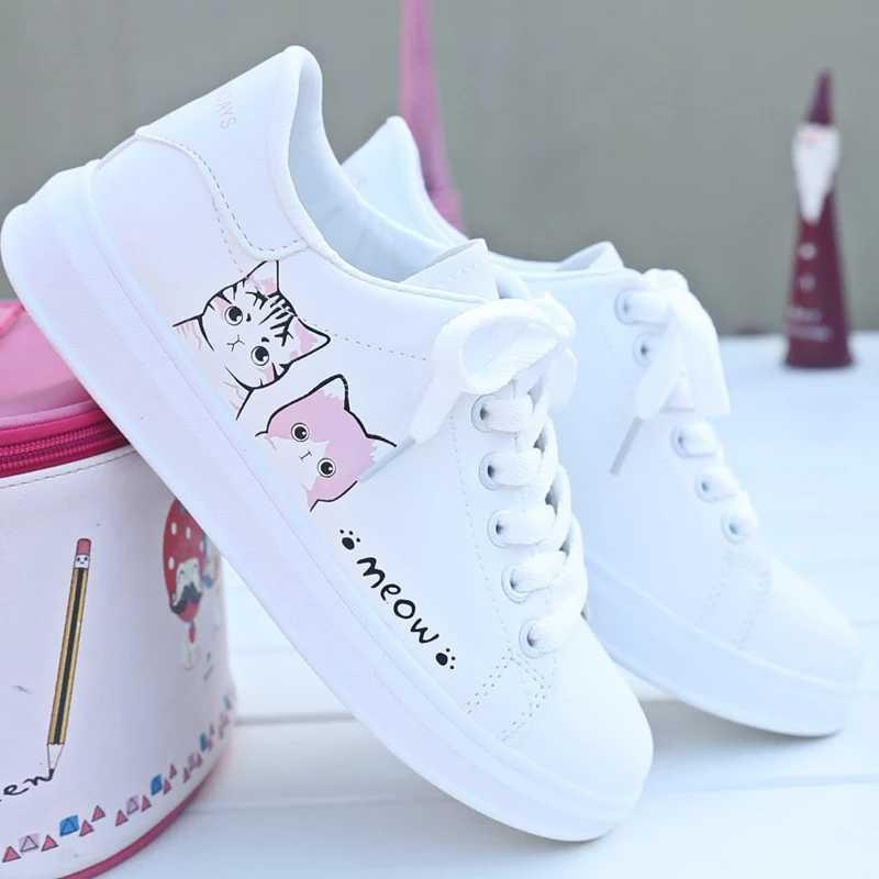 Ready Gq Sepatu Sneakers Wanita Meow Shopee Indonesia