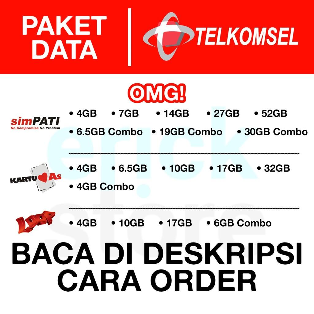 BACA DI DESKRIPSI CARA ORDER | Paket Data Telkomsel Flash