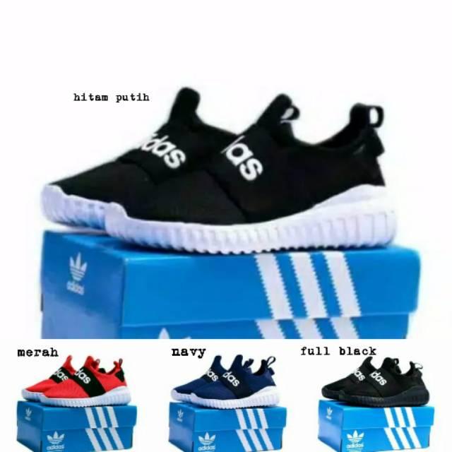 Sepatu Anak Adidas Size 31 35 Keren Merah Biru Hitam Cewek Cowok