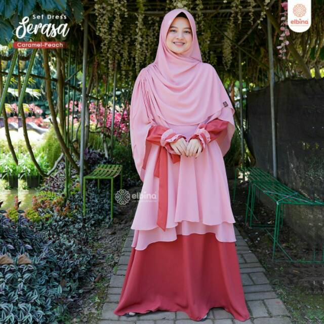 SERASA DRESS  Elbina Hijab Dress Set Khimar