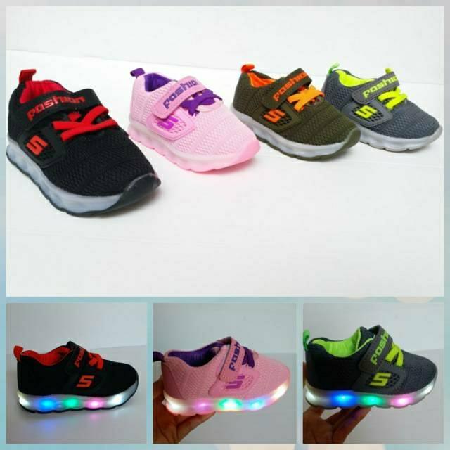 Yi M Skate Terlaris Sepatu Anak Skechers 22 26 Lampu Laki