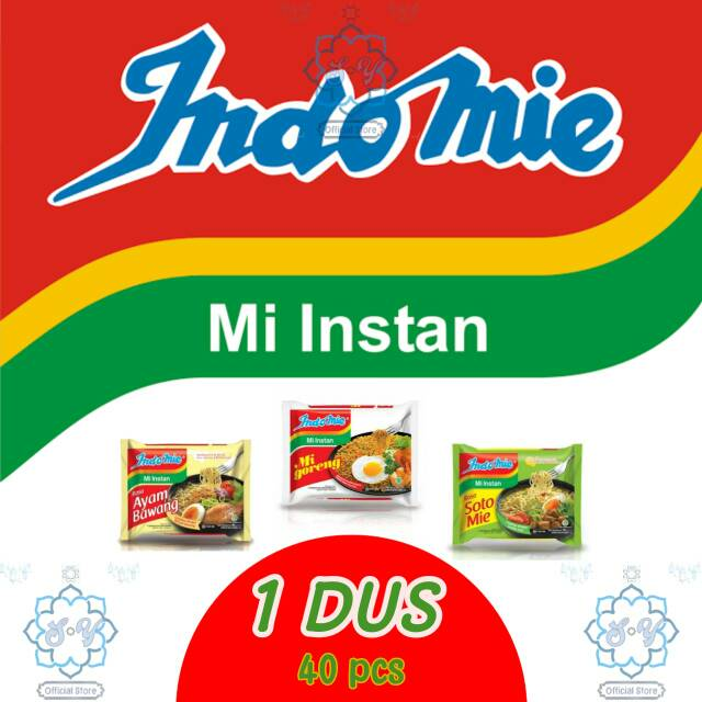 Mie Instan, Indomie Ayam Bawang, Indomie Soto, Indomie Goreng 1 Dus Bisa Dicampur / Di Mix