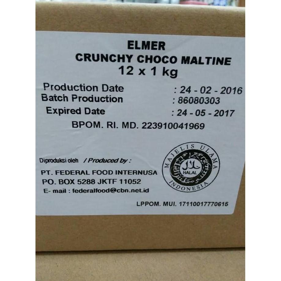 Chocomaltine Crunchy 1 Kg Elmer 200 Gr Shopee Indonesia