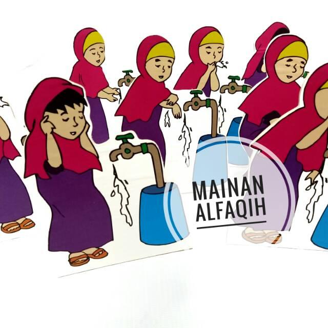 Gambar Kartun Wanita Wudhu Mainan Peraga Wudhu Perempuan Ape Tk Paud Shopee Indonesia