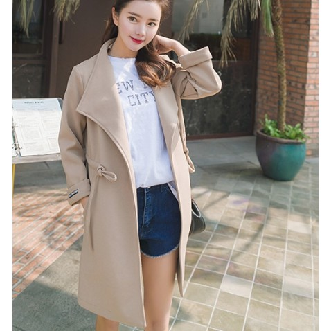 Coat Mantel Wool Fashion Korea K Pop Baju Hangat Winter Trend Masa Kini Shopee Indonesia