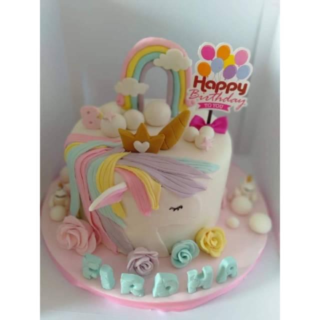Kue Ulang Tahun Unicorn Cake Ultah Unicorn