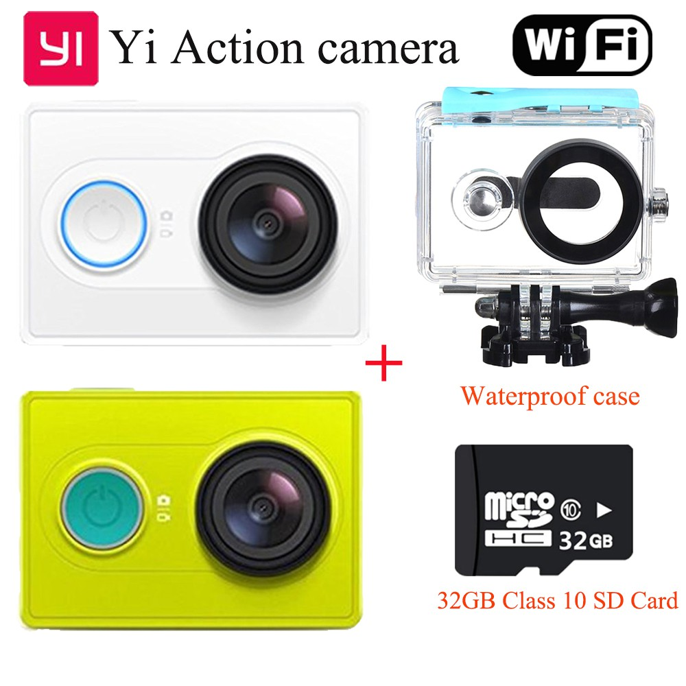 [ Bayar di Tempat ] [32GB + Anti Air] Xiaomi YI Action Camera WIFI BT4.0 16MP Ambarella a7ls | Shopee Indonesia