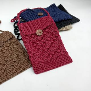 Tas rajut paspor selempang wanita nylon murah | Shopee ...