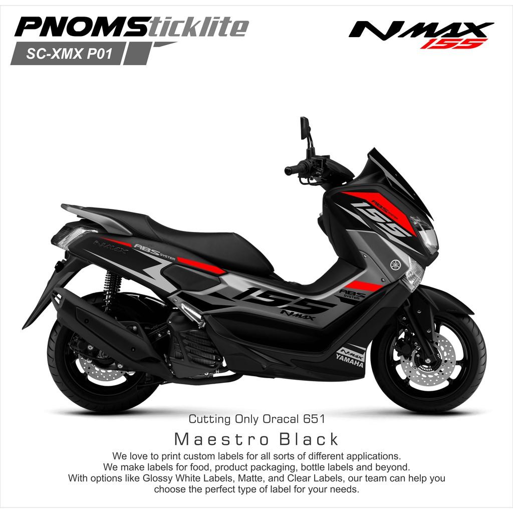 Sticker Cutting Yamaha N Max K8 Momo Gold Tebal Motor Hitam Shopee All New Vario 150 Esp Exclusive Matte Blue Klaten Indonesia
