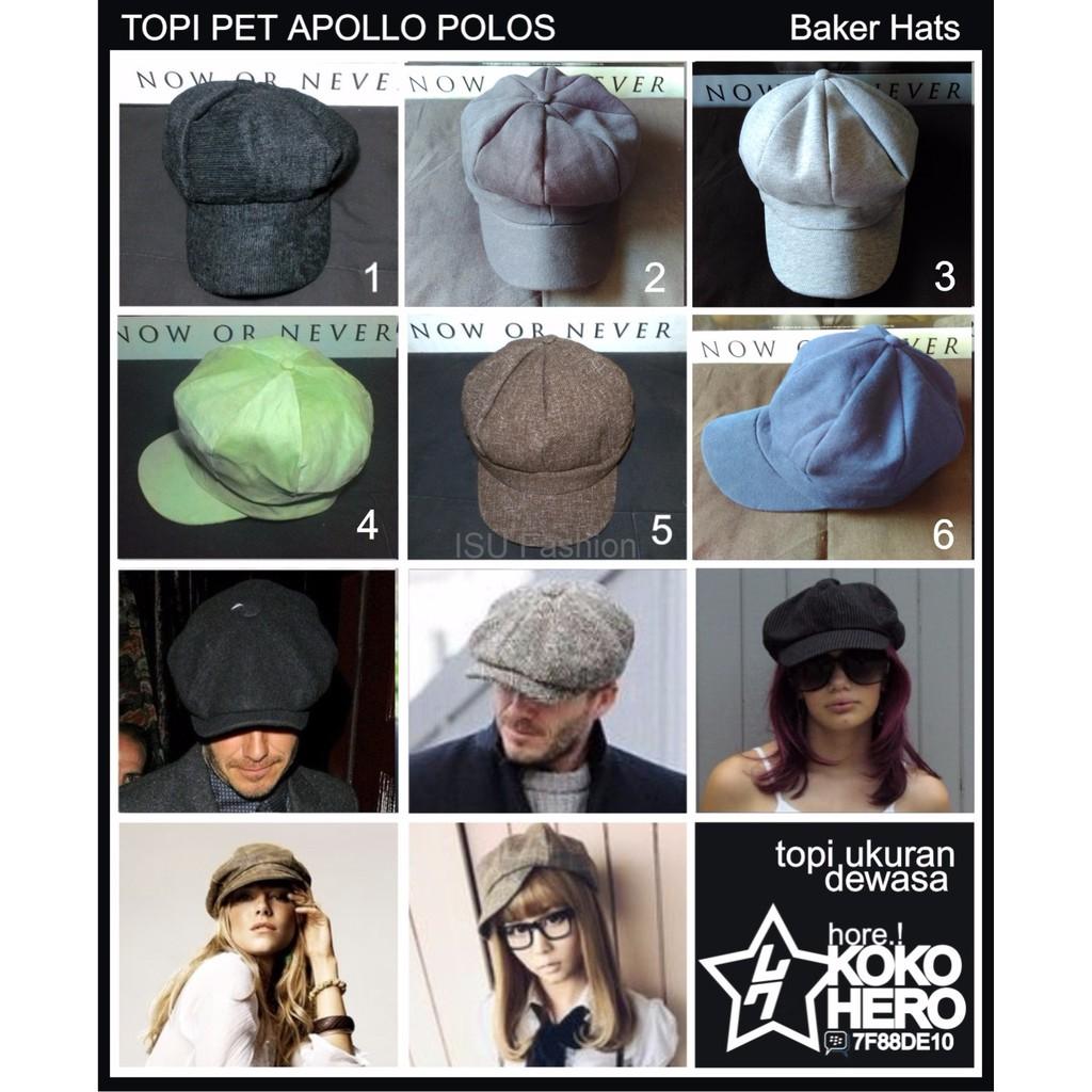 c7abc4219 Keren Topi Pet Paper Boy Hat Newsboy Cap Topipet Apolo Mario Bros Polos