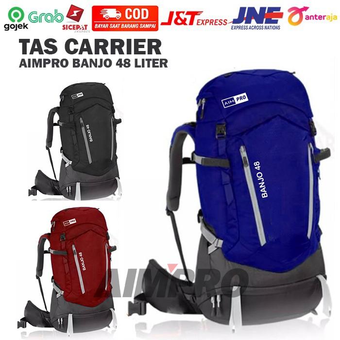 Tas Carrier AIMPRO BANJO 48 LITER - Cover Bag Waterproof - Tas Keril - Tas Carrier - Tas Camping