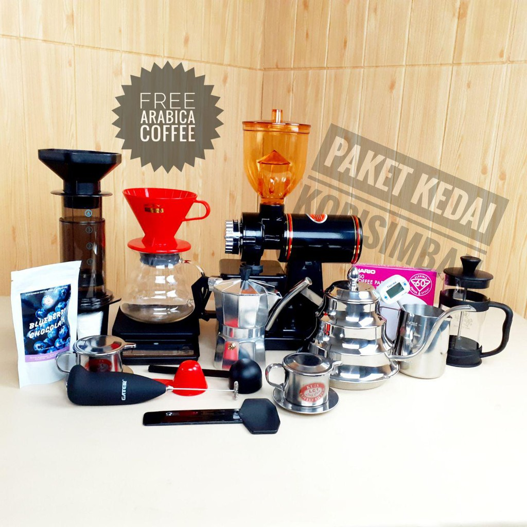 Harga Mesin Kopi Manual Terbaik Agustus 2021 Shopee Indonesia Jual peralatan coffee shop