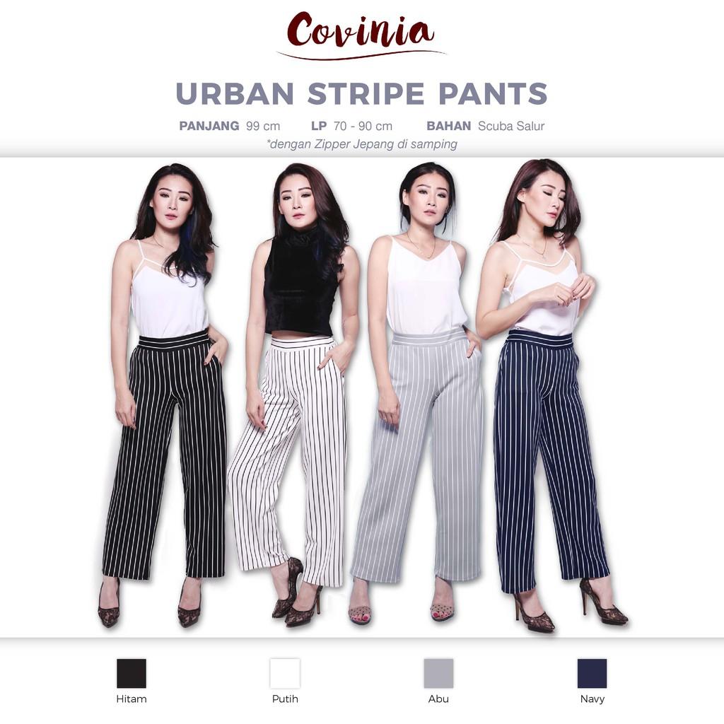 Celana Panjang Zara Stripe Garis Syahrini Scuba Fashion Bagus Import Nagita Pants List Side Hitam Merah Bahan Murah Keren Diskon Paling Sale Shopee Indonesia