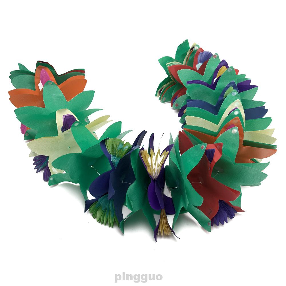DIY Banner Dengan Bahan Kertas Warna Warni Dan Gambar Bunga 3D Untuk Dekorasi Pesta