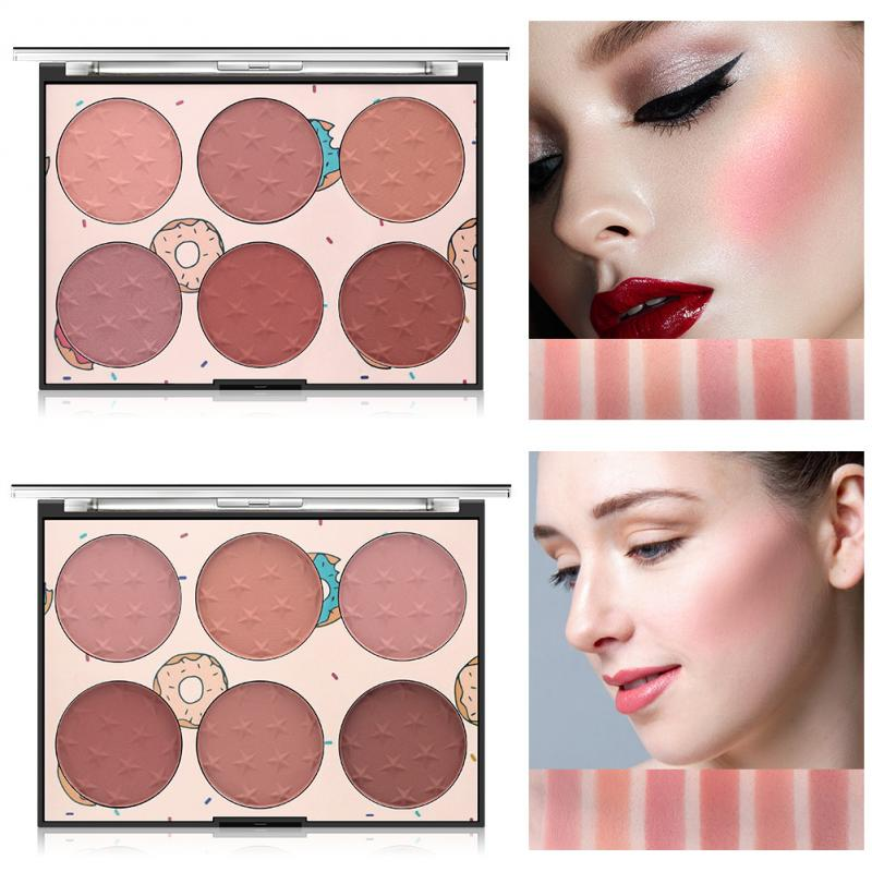 6 Color Blush Natural Long Lasting Face