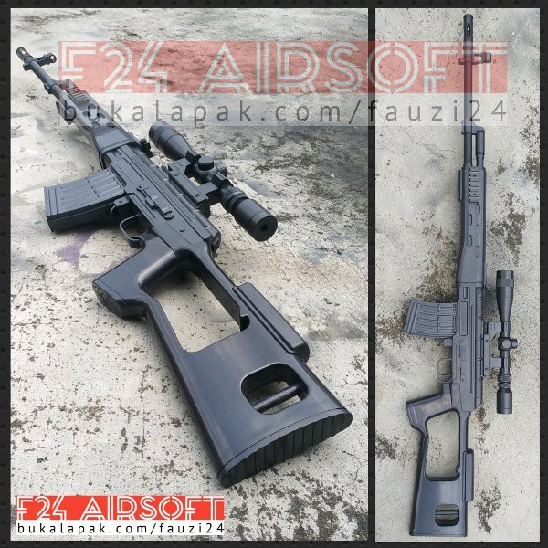 Airsoft Gun Spring Sniper Dragunov Shopee Indonesia