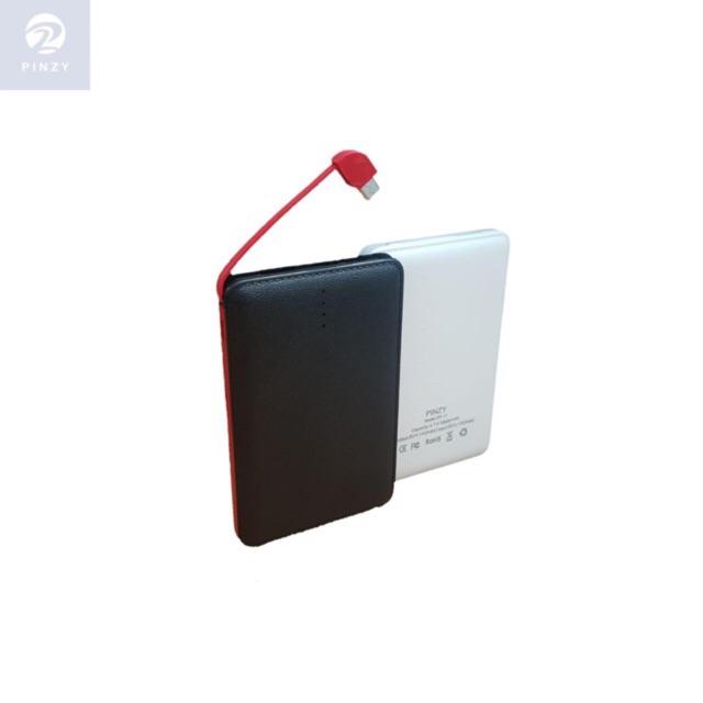 Power Bank PINZY Original DY-11 10000mAh Slim Build in Cable