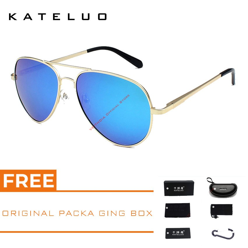 🚚COD√ KATELUO Kacamata Hitam Berkendara Outdoor Olahraga Lensa Polarisasi  Model Pilot Model 317  19e749c445