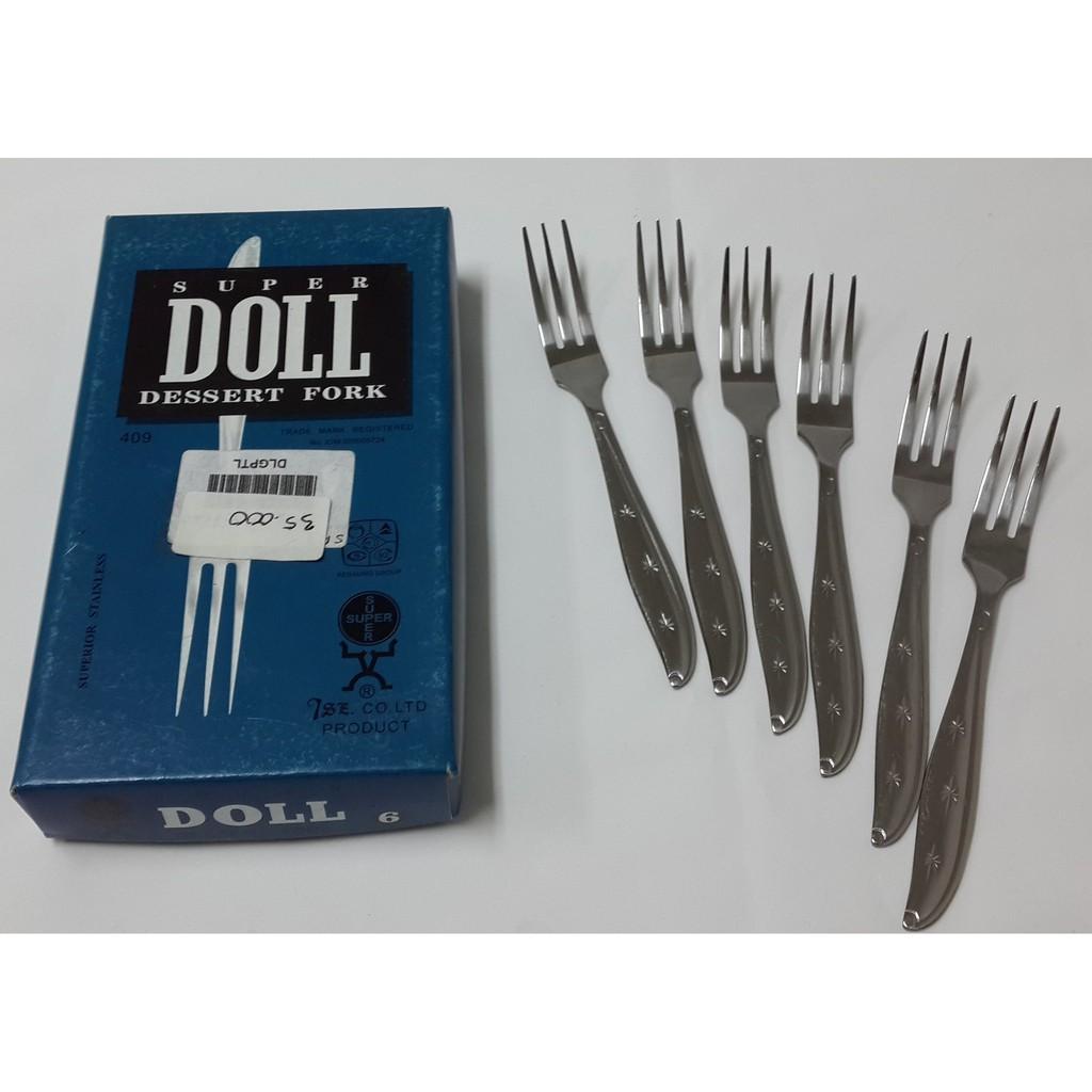 Super Doll Garpu Makan Dessert Fork 6 Pcs Daftar Harga Terkini Pack Stainless Steel Isi Perdus Shopee Indonesia