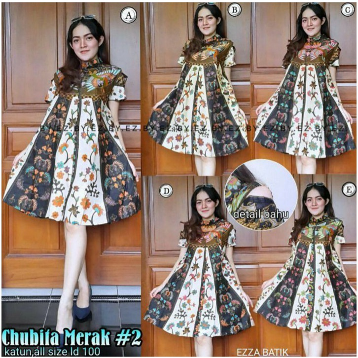 GUPITA DRESS BATIK SOLO CANTIK KEREN MURAH  Tunik Batik Parang Kantor Kerja  Pesta Wanita Grosir A-02  3313897338