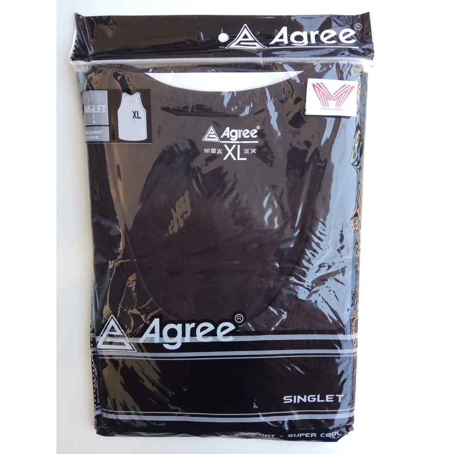 Singlet Pria Agree Shopee Indonesia Grosir Boxer Branded Box 210