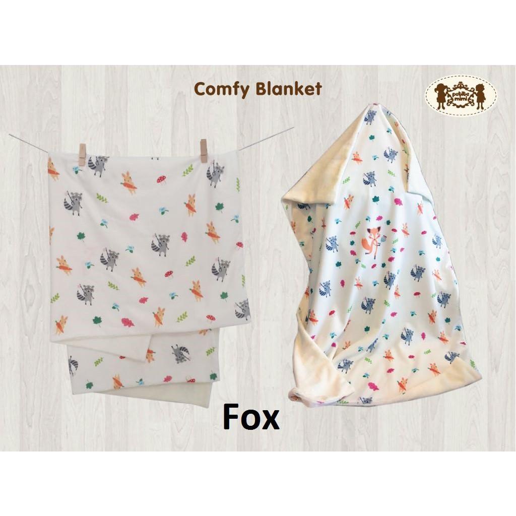 Petite Mimi Premium Hooded Blanket Selimut Topi Bayi Lembut Babybee Luxurious Polka Grey Shopee Indonesia