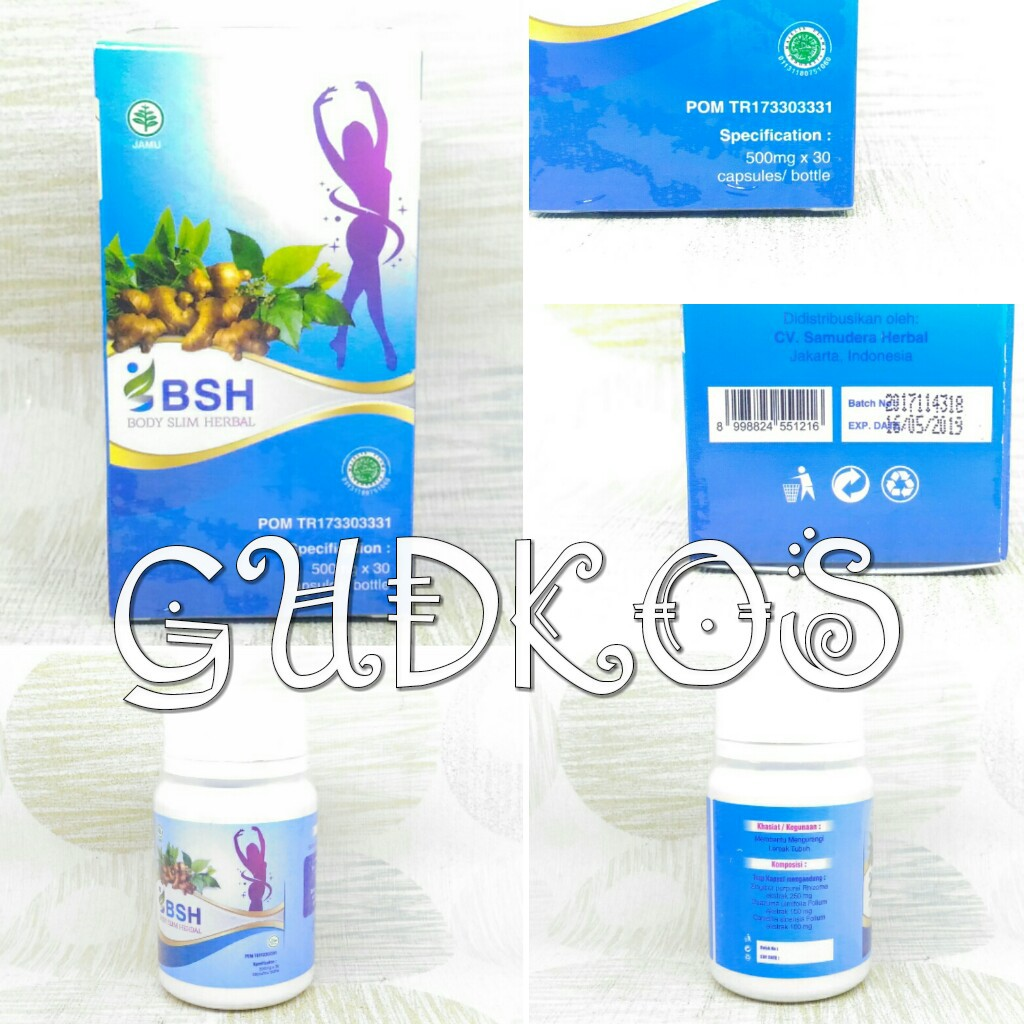 BSH/ Body Slim Herbal/Body Slim Capsules/ Gmp slimming/ New Segel | Shopee Indonesia