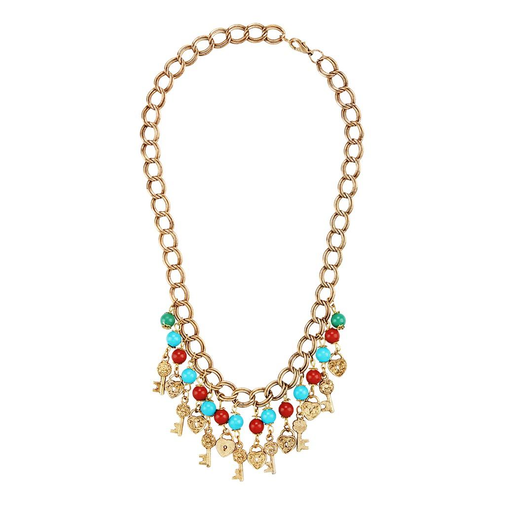 Key Lock Chain Necklace Shopee Indonesia 1901 Jewelry Kalung 258 26 Lapis Emas