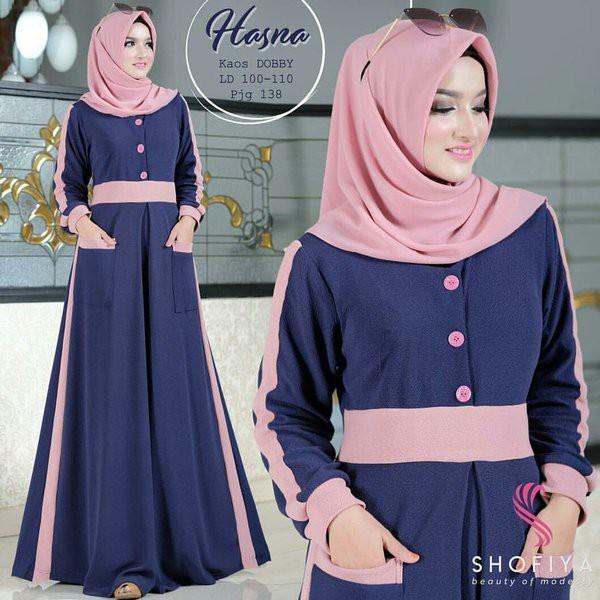 Modis Gaul Terkini Modern Elegan Baju Gamis Wanita Long Dress Maxi Syari Busana Muslim Shopee Indonesia