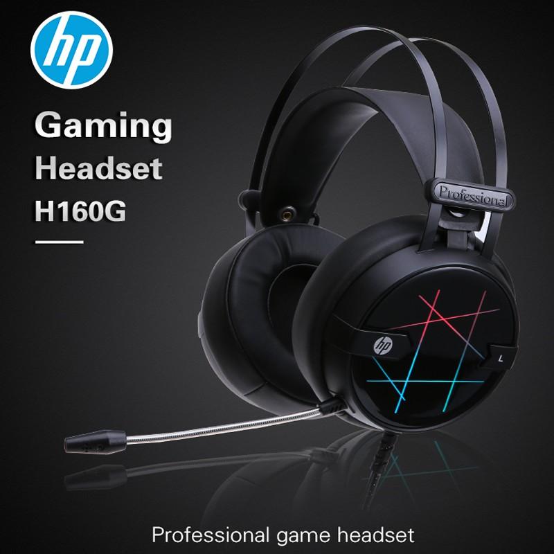 HP Headset Gaming H160 Black RGB Led | Shopee Indonesia