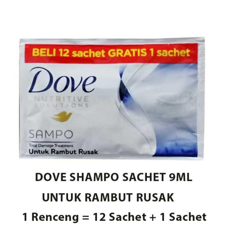 R&B Shampo Dove  Sachet 1 Renceng 12-Putih