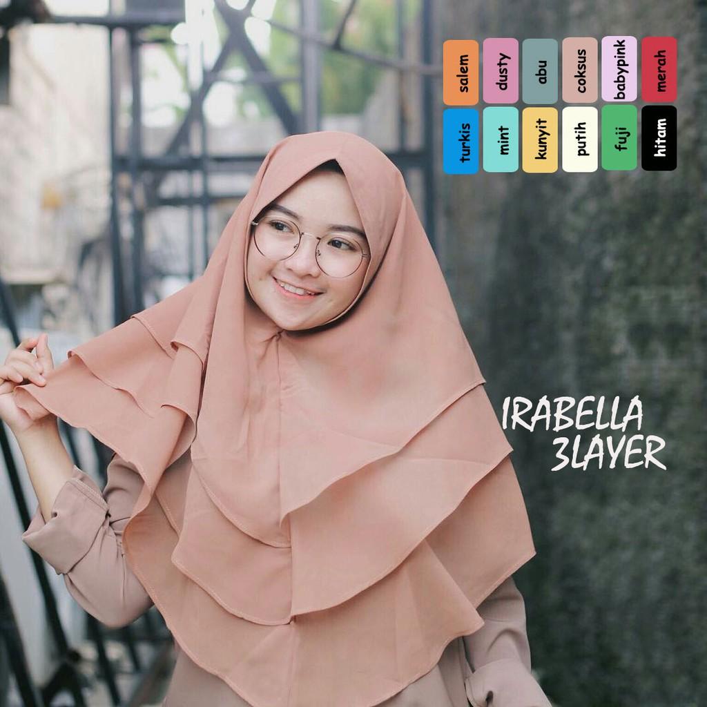 JILBAB KHIMAR IRABELLA 3 LAYER / JILBAB INSTAN / VANILA HIJAB / MURAH WANITA / JILBAB SYARI / GROSIR | Shopee Indonesia