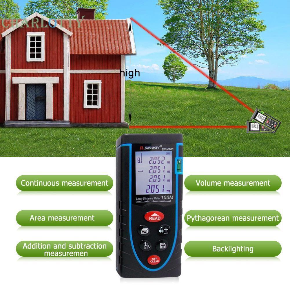 Allnice 100m Mini Digital Laser Distance Meter Range Finder Mengukur 100 Pengukur Meteran Ukur Jarak Diastimeter Shopee Indonesia