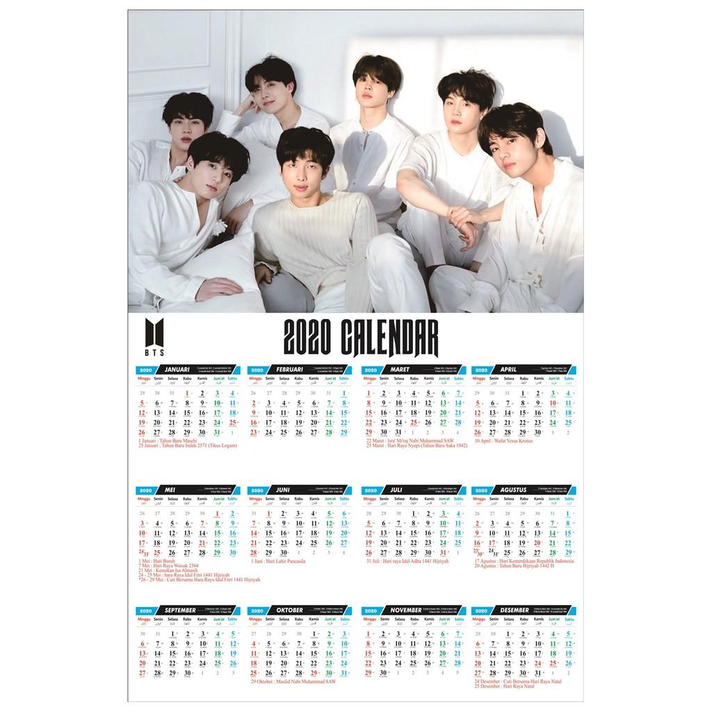 Kalender Poster BTS K Pop 20 Bebas Custom