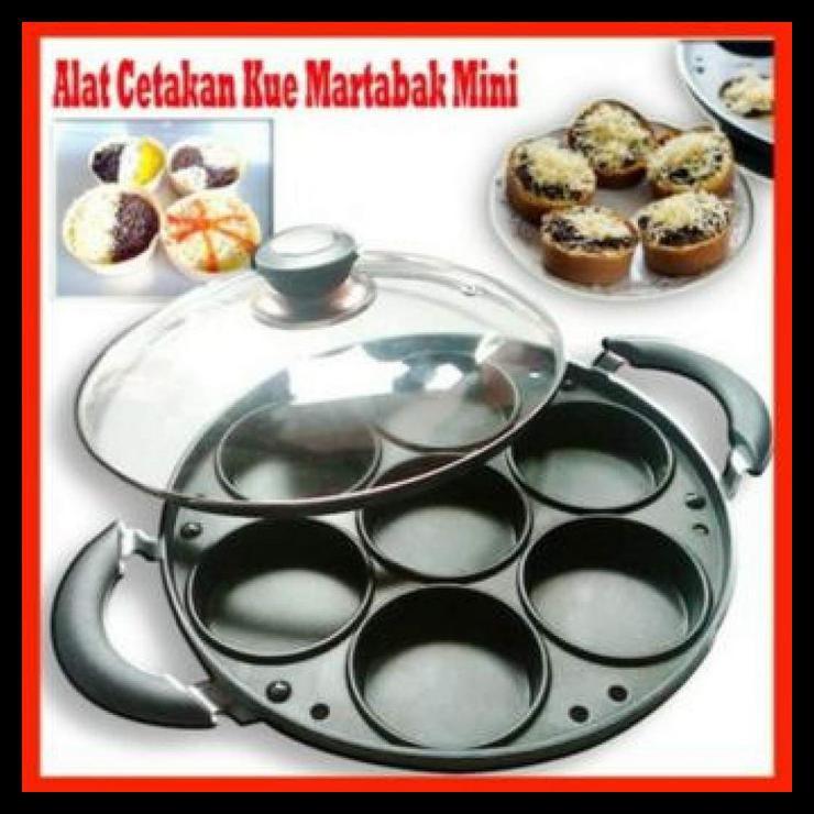 Happy Call Cetakan Kue Martabak Mini 7 Lubang Datar Shopee Indonesia