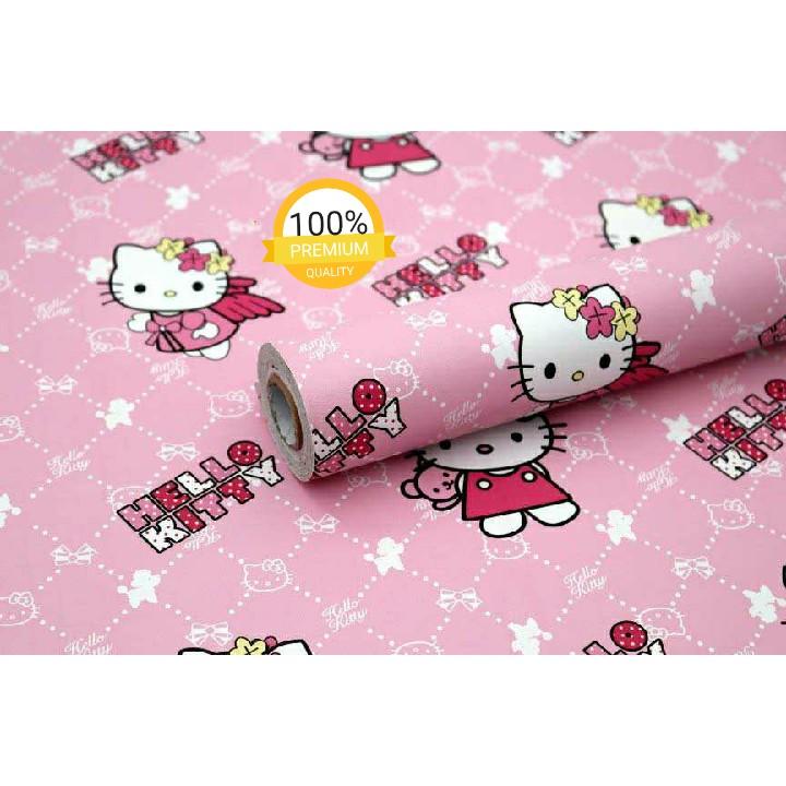 Murah Wallpaper Sticker Dinding Pink Karakter Kartun Hello Kitty Angel Lucu Imut Cantik 10 Meter Shopee Indonesia