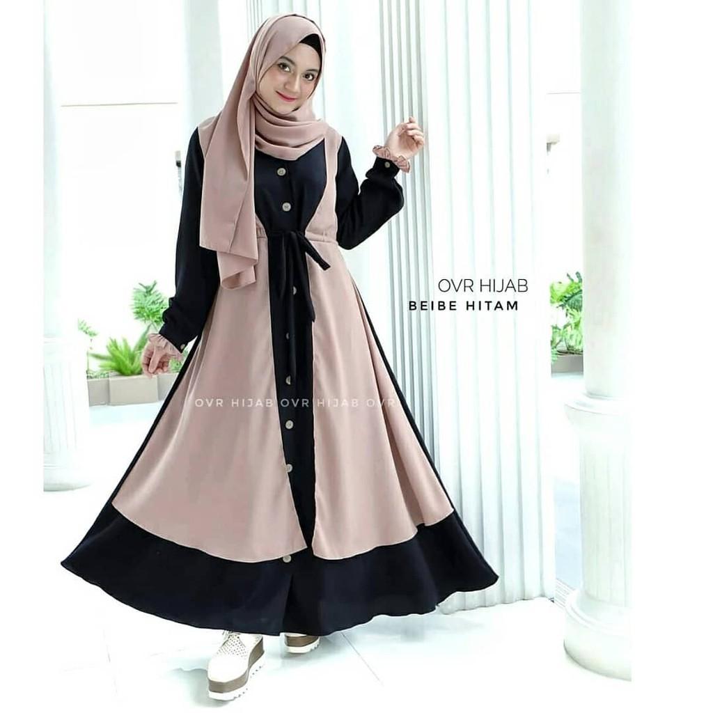Beibe Olive Syari Baju Gamis Setelan Muslim Set Wanita Kekinian Shopee Indonesia