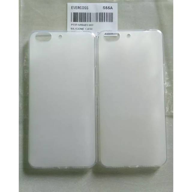 Hardcase silikon bening evercoss U55 Winner Y smart plus ori | Shopee Indonesia