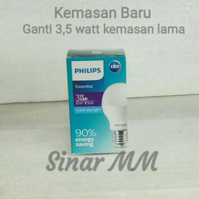 Lampu Philips Led Essential 3,5 Watt PUTIH
