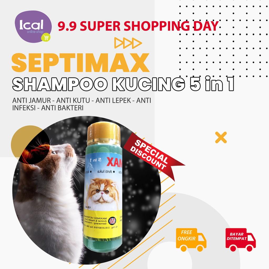 Sampo Kucing Septimax Shampoo Herbal 5 In 1 Anti Kutu Anti Lepek-1