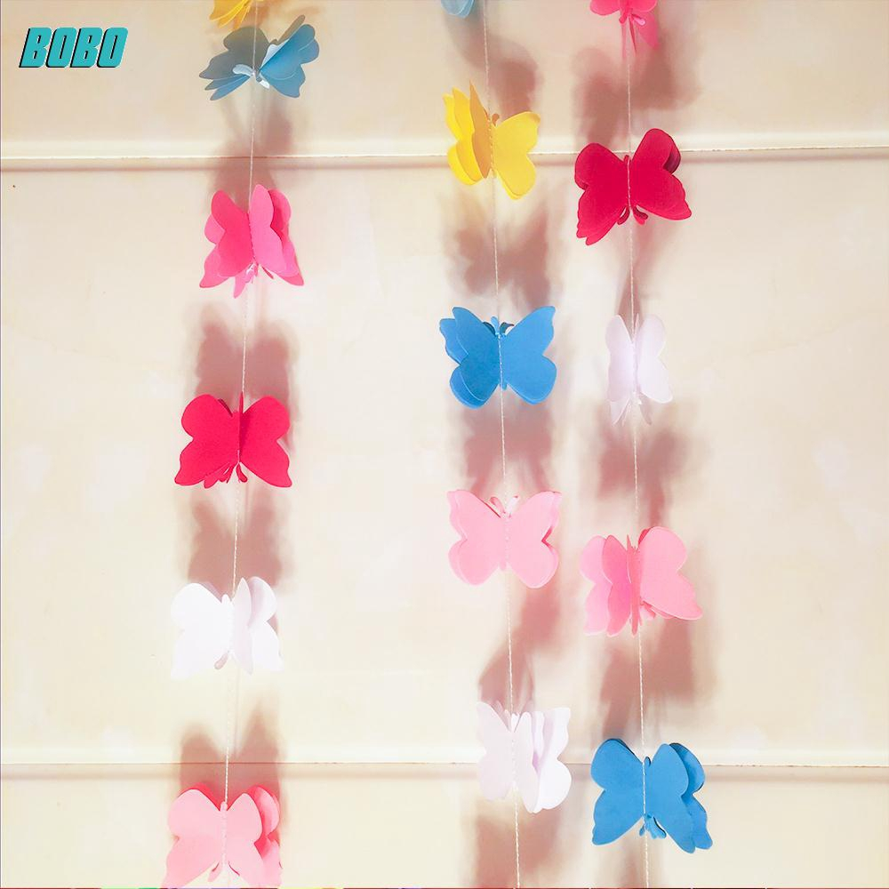 Bobo DIY Banner Dengan Bahan Kertas Dan Gambar Bunga 3D Untuk Hiasan Dekorasi