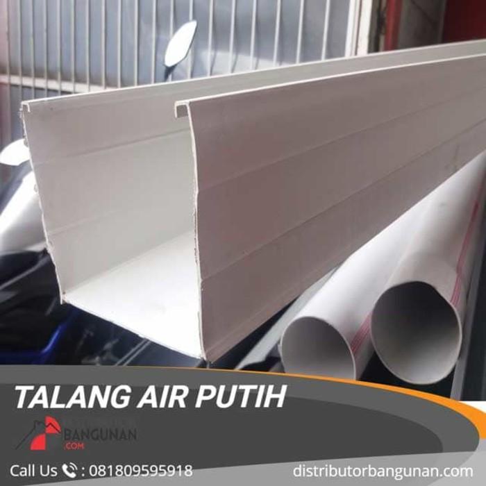 Talang Air Pvc Kotak Warna Putih Panjang 4 M