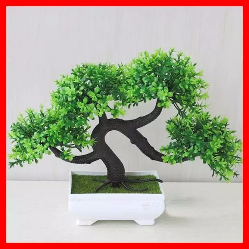 Bonsai Plastik Bonsai Palsu Bonsai Artifisial Pohon Tanaman Bunga Mini Pot Hiasan Meja Import Murah